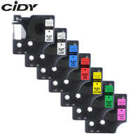 CIDY 45013 Compatible Dymo D1 12mm 6mm 9mm 19mm Label Tape Black on White Label Tapes for Dymo Label Manager LM160 280 Dymo PNP