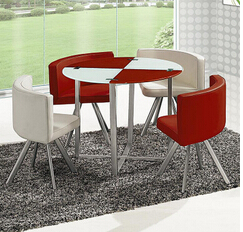 Glass dinner table. Milk tea shop reception desk and chair. Small family dining table glass dinner table  milk tea shop