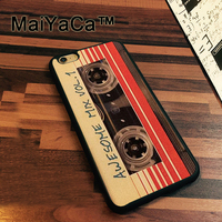 MaiYaCa vintage retro compact cassette tape Soft Rubber Skin Cell Phone Case For iphone 8 Back Cover Cases For iphone 8 Coque