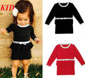 Baby Girls Sweater Dress Autumn sweater dress toddler Girls knitted bow dress long sleeves baby clothes KC064