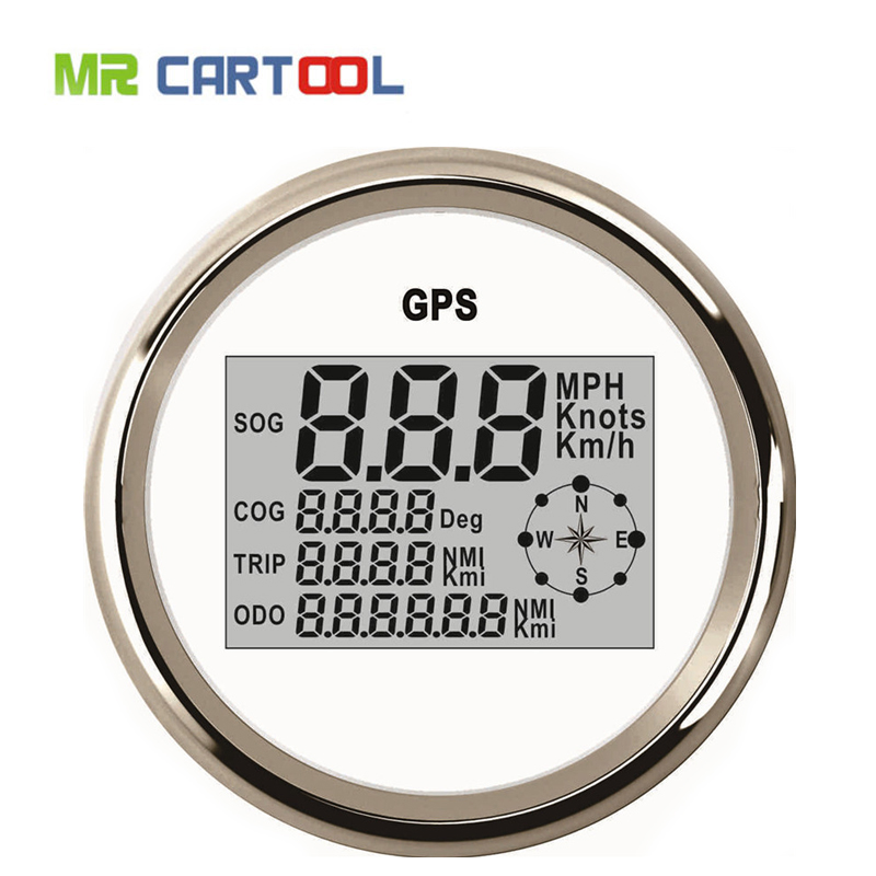 85mm Universal GPS Digital Speedometer 120KM Stainless Steel Waterproof Digital Gauge Car Truck Boat Motorcycle 12V/24V new arrival 85mm auto stainless digital tachometer 80x100rpm for engine car truck 12v 24v fast shipping