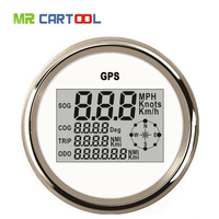 85mm Universal GPS Digital Speedometer 120KM Stainless Steel Waterproof Digital Gauge Car Truck Boat Motorcycle 12V/24V