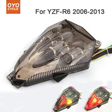 Motorcycle Integrated LED Tail Light Brake Turn Signal Blinker For Yamaha YZF-R6 YZF R6 2006 2007 2008 2009 2010 2011 2012 2013 for yamaha yzf r6 2008 2009 2010 11 12 13 14 complete all silver abs fairings 3mm thick injection plastic kits