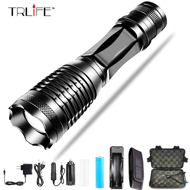 12000Lumen LED Tactical Flashlight T6/L2/V6 Porable Torch 5 Mode Adjustable Focus waterproof IPX6 by 18650 battery for Camping12000Lumen LED Tactical Flashlight T6/L2/V6 Porable Torch 5 Mode Adjustable Focus waterproof IPX6 by 18650 battery for Camping