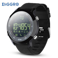 IP68 Waterproof Diggro DI04 EX18 5ATM Pedometer Message Reminder Outdoor Sports For Android IOS Dial Silicone