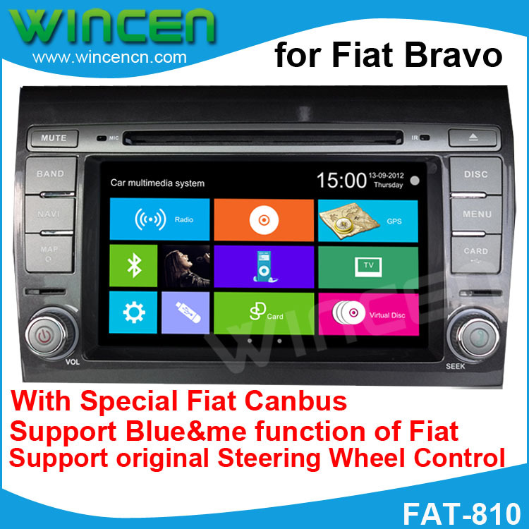 6.2 Car DVD GPS Player for Fiat Bravo Support GPS DVD IPOD BT RDS Radio USB SD function Car Navigation Audio System Radio