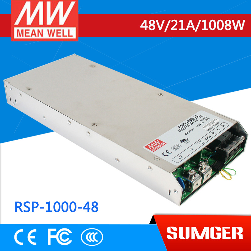 все цены на [Sumger2] MEAN WELL original RSP-1000-48 48V 21A meanwell RSP-1000 48V 1008W Single Output Power Supply онлайн