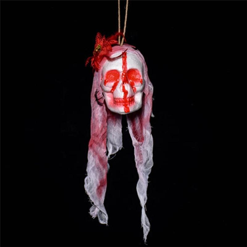 Halloween party horror Prop Bloody Magic Nail Through Head Trick Toy Prank /_7
