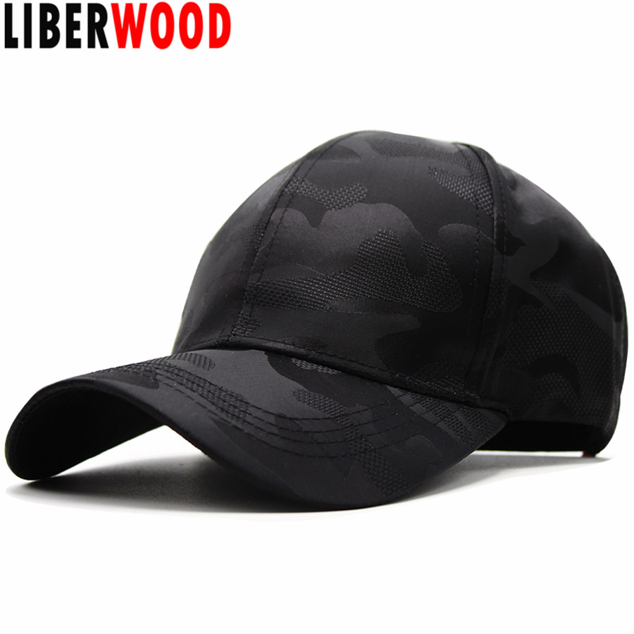 7a60d122913 LIBERWOOD Quick-drying Quick Dry Camouflage Sun Cap Lightweight Runner Cap  Unisex Breathable Summer hats