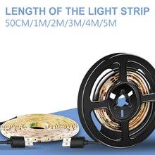 USB Led Light 5V Strip Lamp 2835 SMD Tira Neon Tape Flexible TV Backlight Mirror Stairs Lighting Decoration