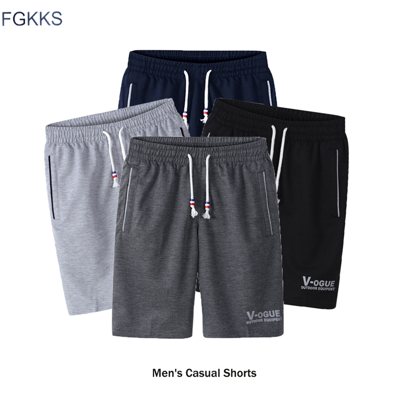 FGKKS Fashion Brand Men's Shorts 2018 Spring Summer Male Sweatpants Fitness Bodybuilding Workout Man Fashion Shorts(China)