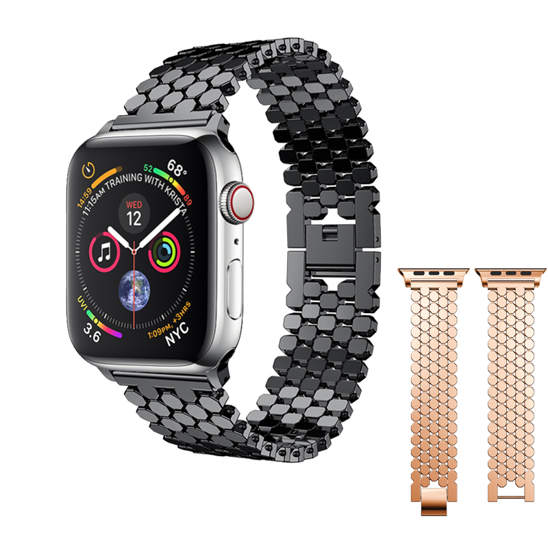 Stainless Steel Strap for correas Apple watch band 40mm 44mm 42mm 38mm iwatch series 4 3 2 1 link bracelet wrist belt watchband цена