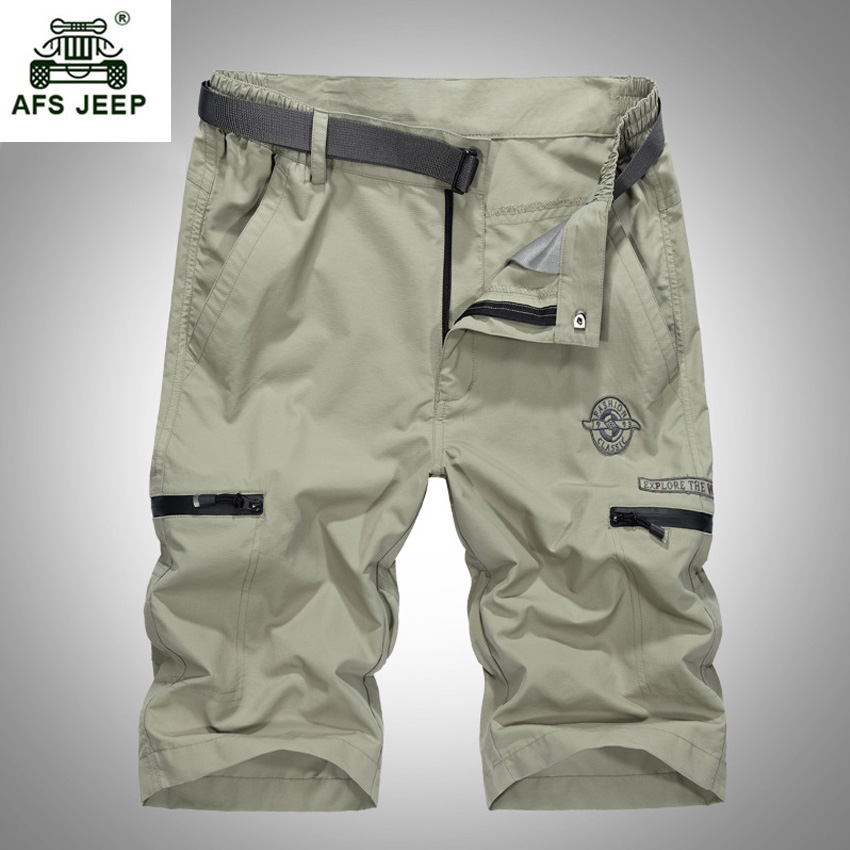 2017 New Summer mens casual shorts cotton quick dry  knee length shorts men plus size L-4XL cargo shorts men beach shorts 56wy