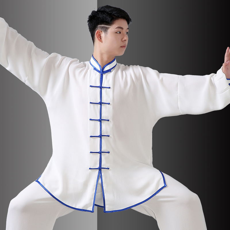 New Design Mutil-Colors Long Sleeved Tai Chi Uniform KungFu Suit Uniforms I Exercise Clothing Chinese Traditional Clothes