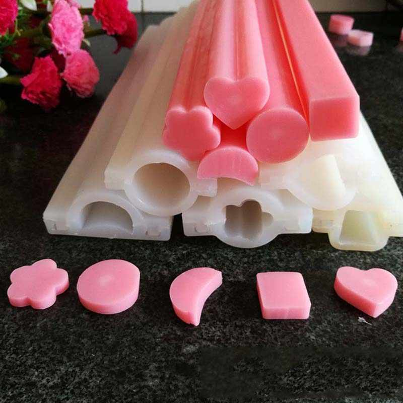 DIY Hand Soap Mold Silicone Tube Column Mould for Homemade Craft Soap Decoration Candle Making Mould Tool Cake Pastry Mould