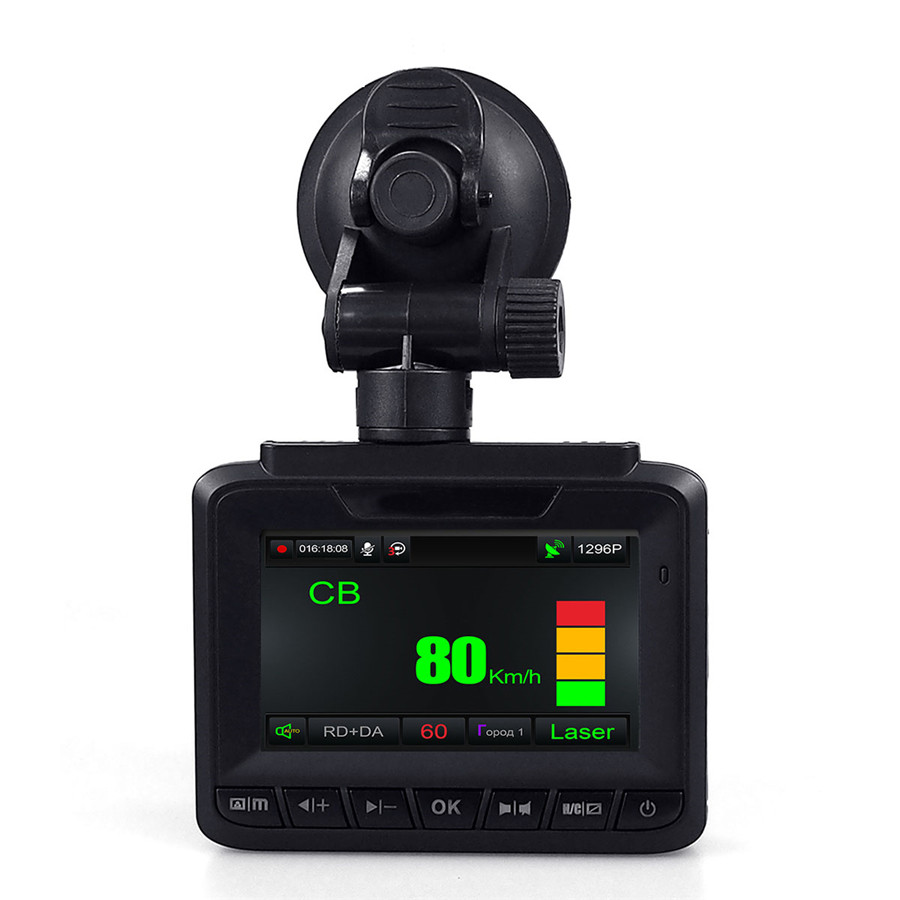 New 3 in 1 Car Radar Detector GPS Track Recorder Car DVR 1296P Dual Lens Rear Camera Exclusively for Russia