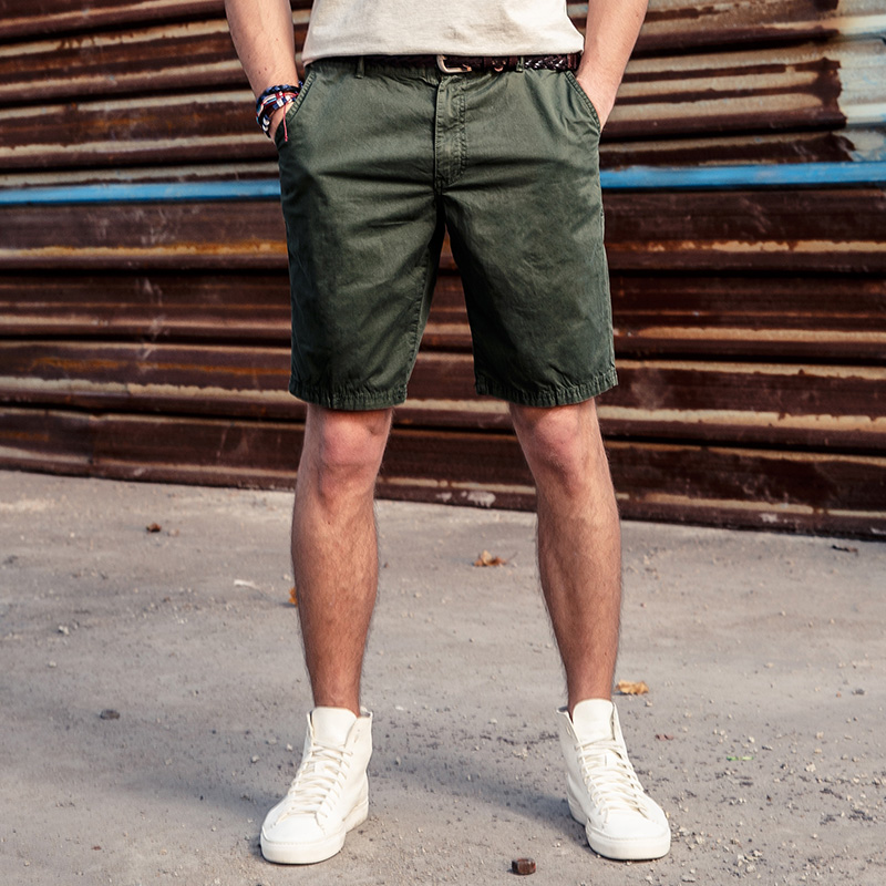 Men's Clothing Summer Hot Sale Men Fashion Korean Style Casual Knee Length Board Shorts Short Pantsa,solid Color Striped Printed Design Shorts