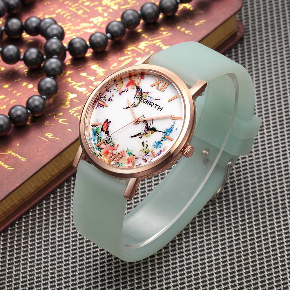 2017 Rose Gold Women Watches Luxury Brand Silicone Strap Watch Ladies Fashion Casual Quartz Wristwatch Waterproof Female Watches duoya fashion luxury women gold watches casual bracelet wristwatch fabric rhinestone strap quartz ladies wrist watch clock