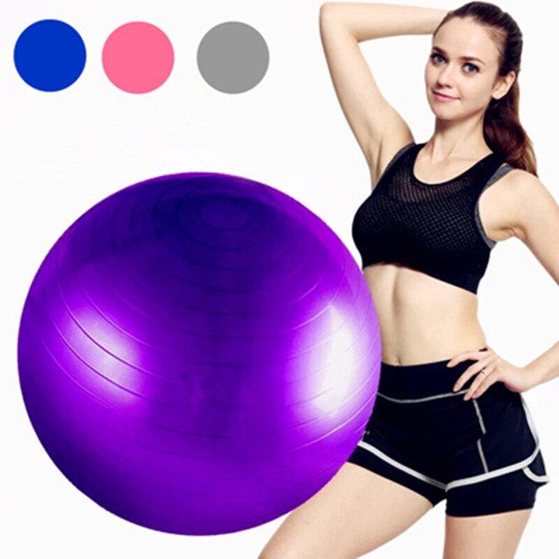 ★  45см 55см 65см 75см Спортивные шарики для йоги Бола Пилатес Фитнес-мяч Тренажерный зал Баланс Фитбол ★