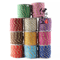 Free Ship  14 meters /roll 5mm Double Color  Satin Twisted Cord, Wrapped Thread Cord, Rope Cord