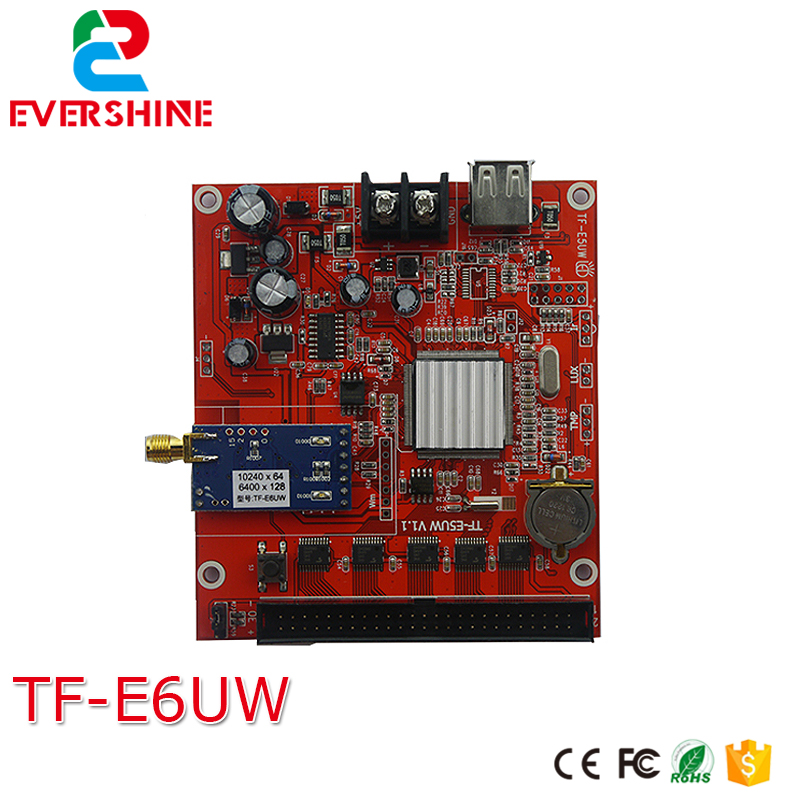 все цены на GPRS led control card longgreat TF-E6UW 128*6400 pixel single,dual color and full color led controller card онлайн