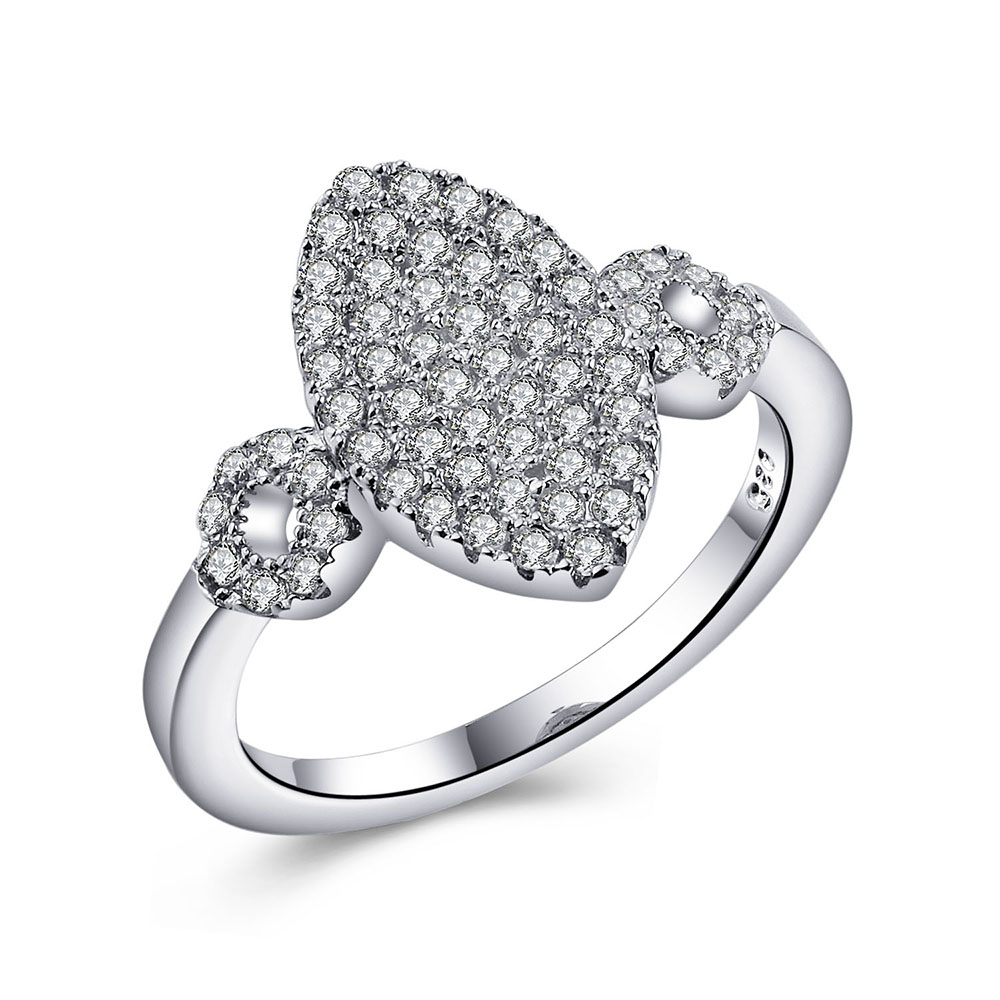 aliexpresscom buy large wedding rings for women with clear stone gift hot sale new oval jewelry silver plated cubic zircon diamond engagement ring from - Large Wedding Rings