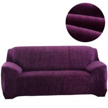 Svetanya фланель сплошной Цвет Чехлы для диванов эластичный чехол для секционная один l-образный loveseat Диван случае