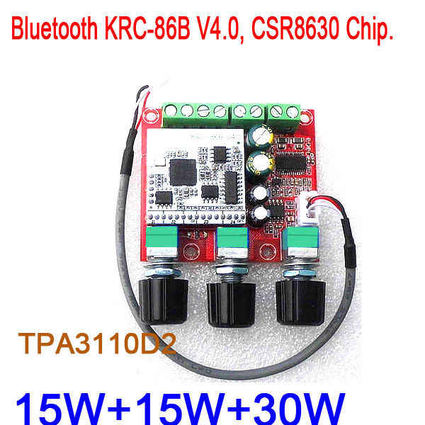 TPA3110D2 2.1 CH 30 W + 15 W + 15 W Bluetooth 4.0 Receiver Subwoofer Audio Amplifier Papan Stereo Amp untuk 12 V Mobil Listrik