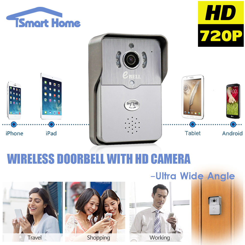 720P IP Wireless bell Camera WiFi Door Peehole Night Vision Video Door Camera Bell Phone Doorphone Motion Detection