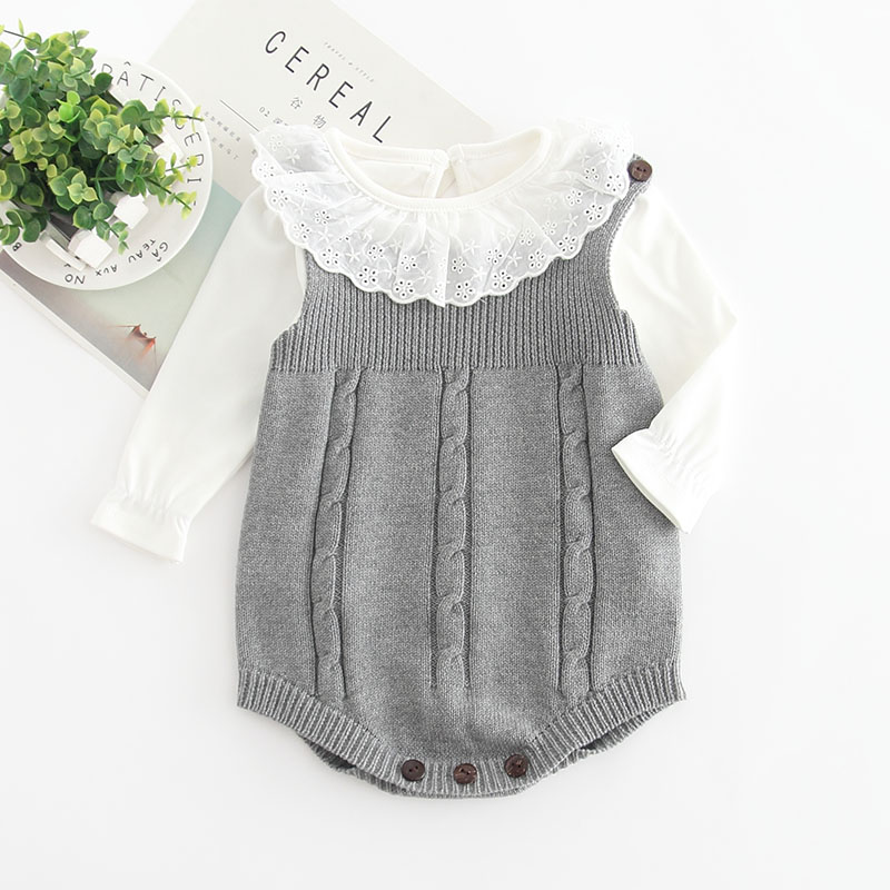 HTB1ZGlJwWAoBKNjSZSyq6yHAVXay 2019 High Quality Baby Boy Knit Romper Girls Cute Crochet Rompers Toddler Brand Spring Suspender Infant Lovely Knitting Romper