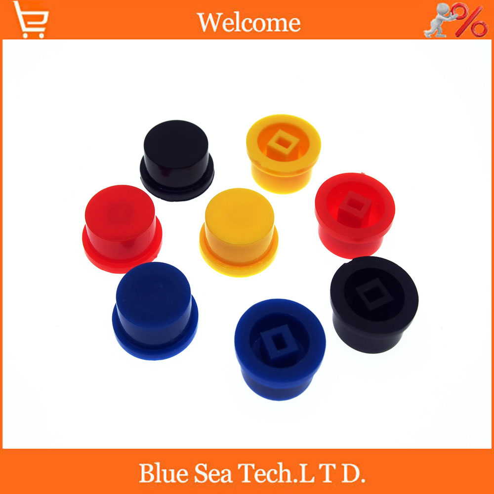 200 PCS/Pack Tactile Push Button Switch Cap,tact micro switch button Cap,fit 7*7mm;8*8*mm;8.5*8.5mm switch 7 values 70pcs 6x6x4 3 5 6 7 8 9 10mm tact switch tactile push button switch kit sets dip 4p micro switch high quality