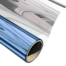 Blue Silver Window Film One Way Privacy Sun Blocking Heat Control Home Glass Tint House Screen Stickers Mirrored