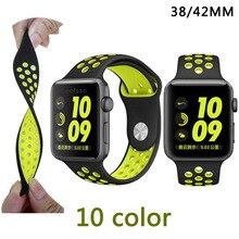 Novo 38mm 42mm pulseira original com luz flexível respirável silicone relógios banda cinta para apple watch pulseira de relógio iwatch