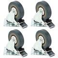 Сверхмощный 50 мм 360 градусов резиновые поворотные колесные диски тележка универсальный ролик 40 кг с тормозом офисный стул мебель ролик