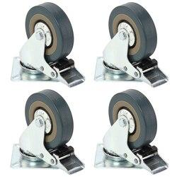Heavy Duty 50 millimetri 360 Gradi In Gomma Girevole di Ricino Ruote Universali Trolley Caster 40 KG con freno Sedia Da Ufficio Mobili caster