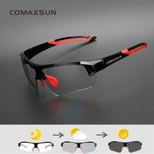 Comaxsun photochromic ciclismo óculos descoloração mtb bicicleta de estrada esporte óculos de sol óculos de bicicleta anti uv
