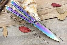 5Cr13Mov нержавеющей стали нож бабочка обучение нож бабочка balisong нож тупая инструмент нет край бесплатная доставка