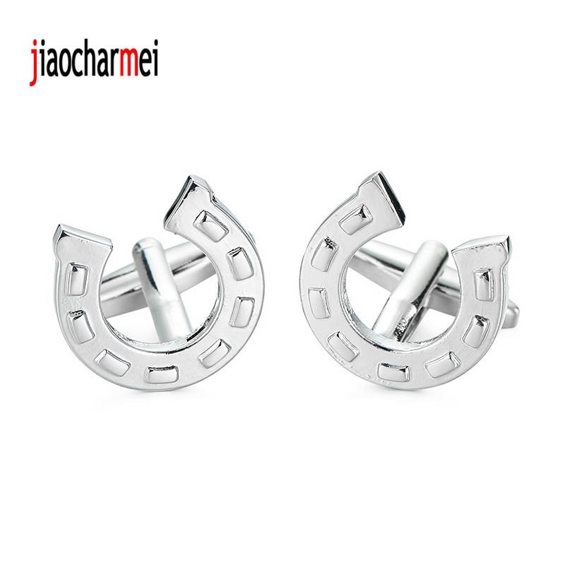 High quality mens shirts Cufflinks brass fashion novelty car logo boutique horseshoe cufflinks, French shirt accessories