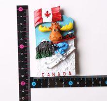 Canadian ski elk fridge stickers