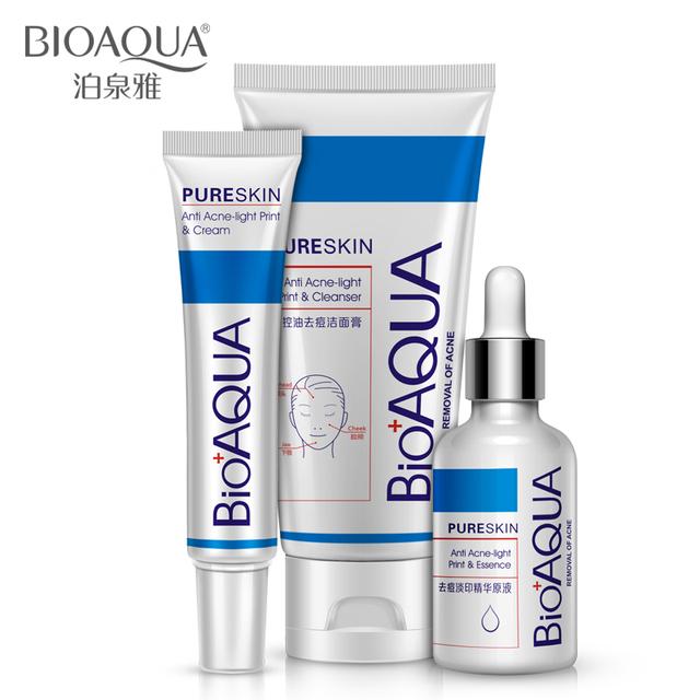 H2o8 de tratamento de Acne remover cravos Acne reparação essência branqueamento de controle de óleo Acne beleza rosto Set