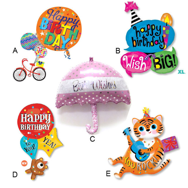 1pcs Lot Anagram Supershape Happy Birthday Wishes Cartoon Balloons
