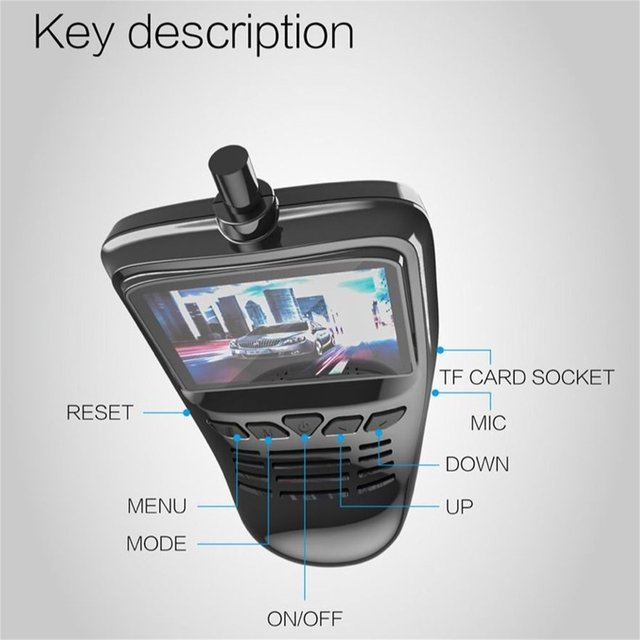 Small Eye Dash Cam Car DVR Recorder Camera with Wifi Full HD 1080p Wide Angle Lens G Sensor Night Vision Dash Cam