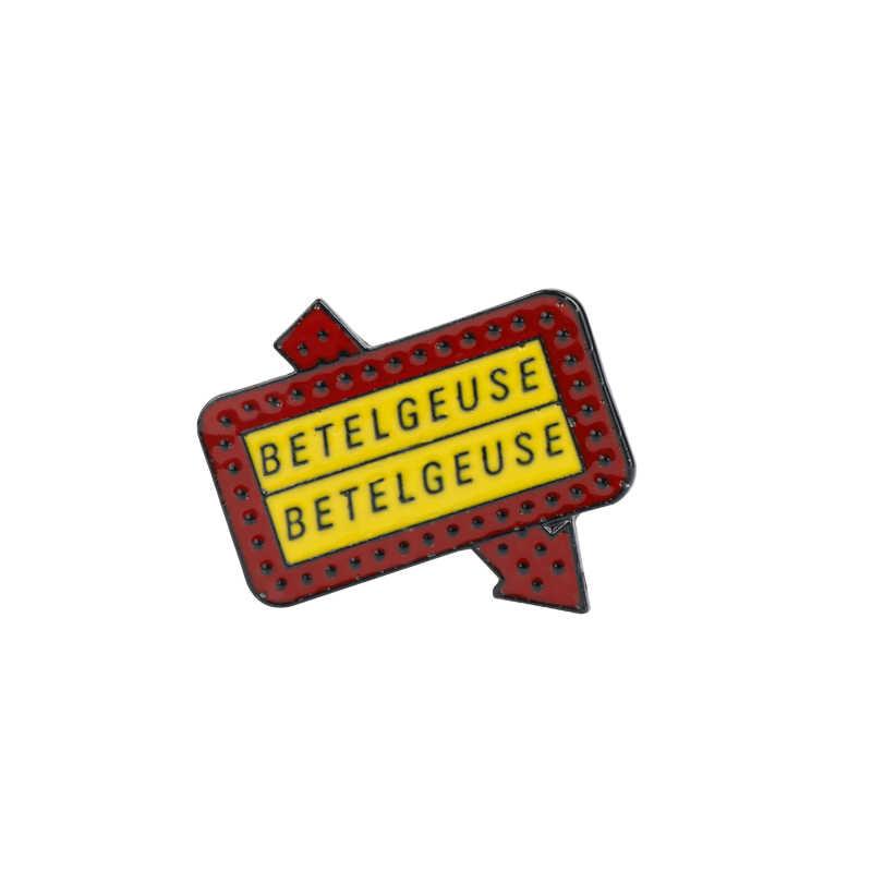 ベテルギウス道路標識看板ブローチゴシックホラーモンスター石墓エナメル針おかしいアーティストバッジのピン