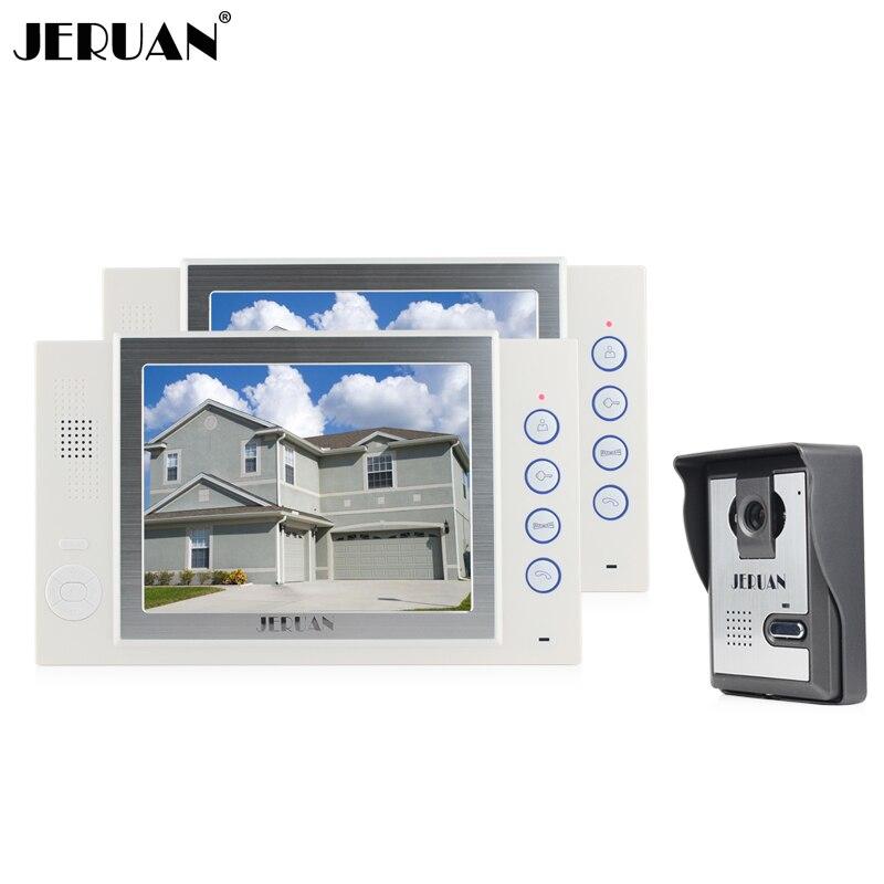 ᑎjeruan 8 Inç Görüntülü Kapı Telefonu Kapı Zili Interkom Sistemi