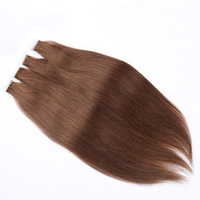 Wholesale Tape in Human Hair Extensions 45cm 50cm 55cm Tape Hair Extensions Brazilian Virgin Hair Color 1 24 613 60 Tape In Hair