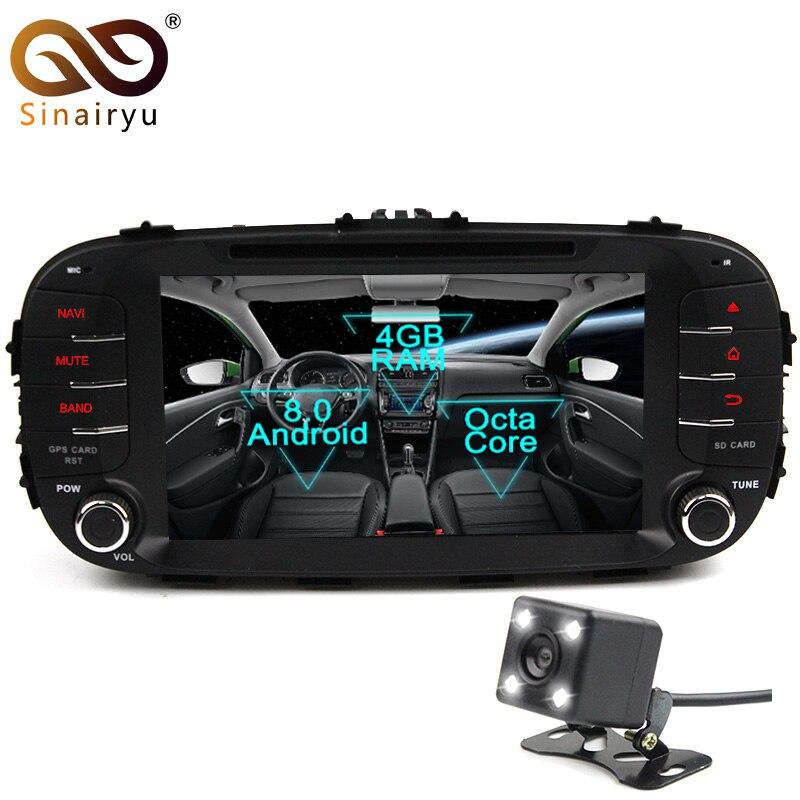 Sinairyu 2 Din Android 8.0 Octa Core Car DVD Player for Kia Soul 2014 2015 2016 GPS Navi Multimedia Radio Stereo Head Unit WIFI seicane 2 din 10 1 android 7 1 android 6 0 quad core car radio gps navi stereo unit player for 2014 2015 hyundai ix25 creta