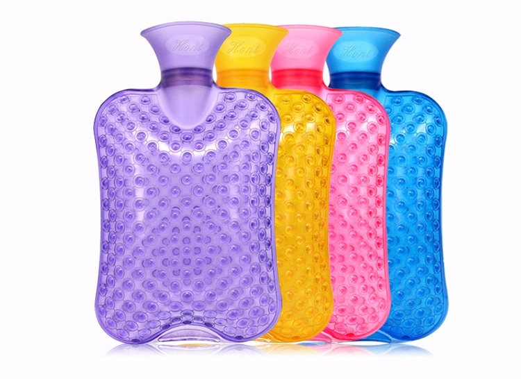 PVChot water bottle Hand Po charge injection trumpet tuba thick high-density non-rubber hot water bottle with warm water massage electronic iv training hand injection hand