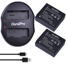 DuraPro 2pcs DMW-BLG10 DMW BLG10 Camera Battery + USB Dual Charger for Panasonic BLG10E BLG10GK BLG10 DMC-GF6 DMC-GX7 GF6 GX7