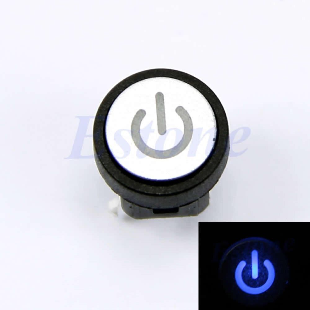 OOTDTY Blaue Led Licht Power Symbol Momentary Rast Computer Fall ...