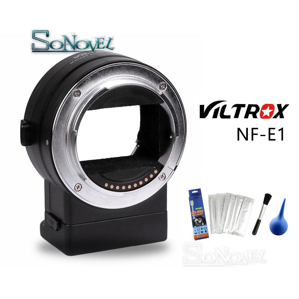 Lens para Sony e Mount Sinal de Exif Adaptador de Lente para Nikon Nf e1 Viltrox af Auto Foco Anel Tubo f a9 a7 A7riii A7iii A6500 A6300